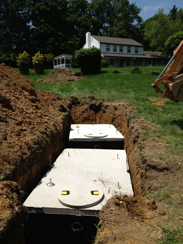 Tank Install - 1000 Gallon Septic Tank and 1500 Gallon Pump Tank