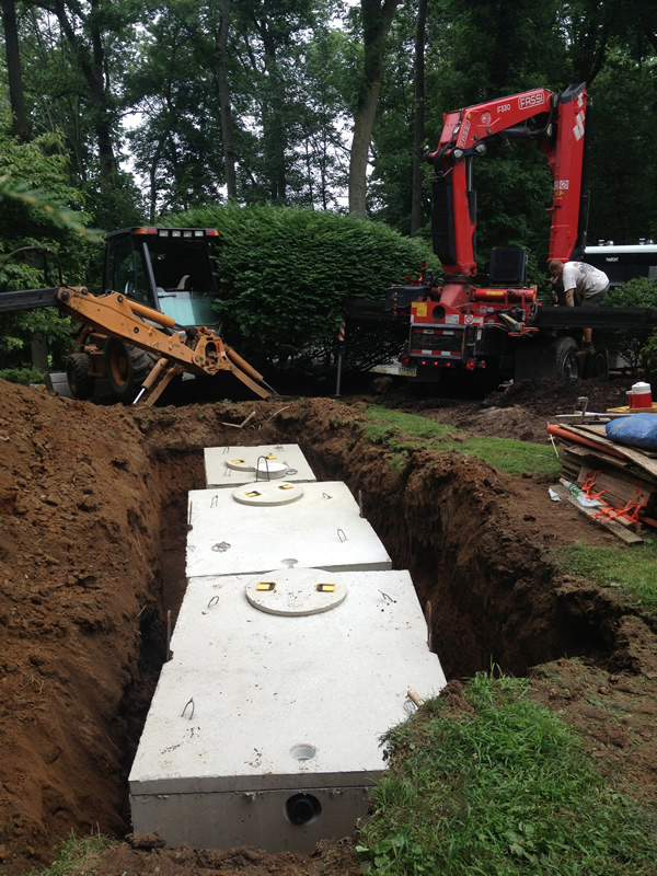 Tank Install - 1000 Gallon Septic Tank and 500 Gallon Pump Tank