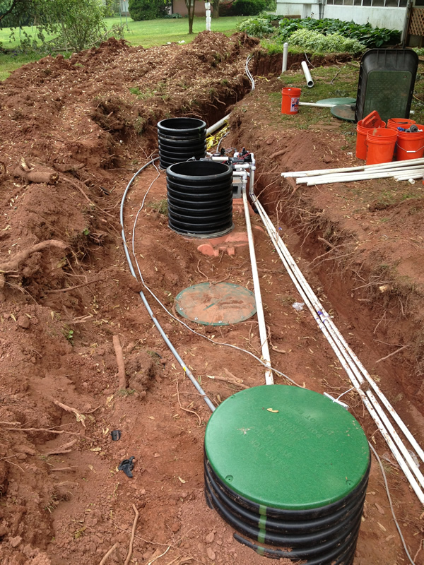 Tank Install - 1500 Gallon Septic Tank and 1500 Gallon Pump Tank