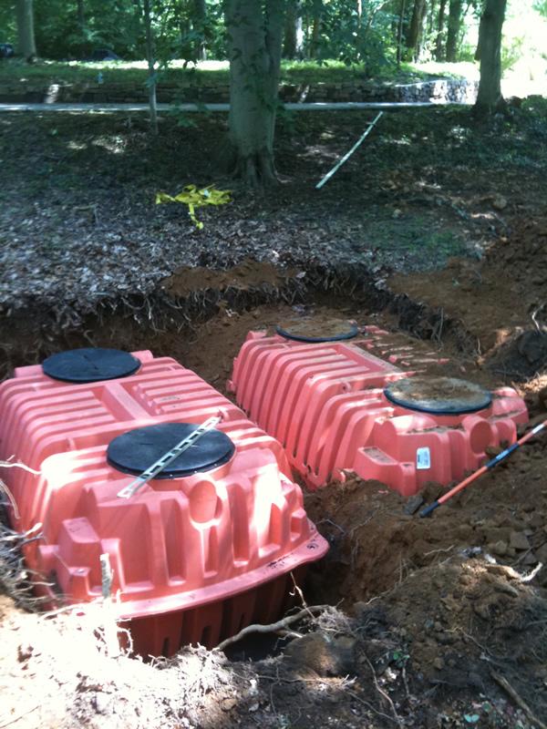 Tank Install - Infiltrator Tanks