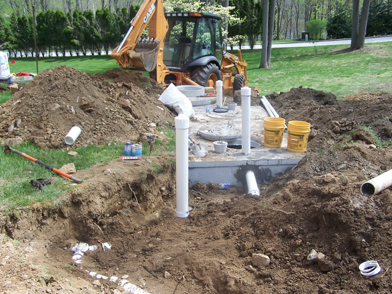 Tank Install - Septic Pump Tanks Connected